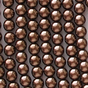 4mm Copper-Colored Round Glass Pearls [118+]
