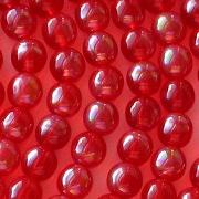 6mm Siam Ruby Iris Round Beads [50]