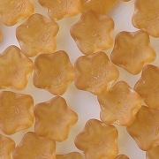 4x10mm Dark Topaz Matte Flower Cup Beads [50]
