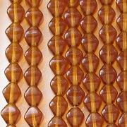 6mm Topaz Bicone Beads [50]