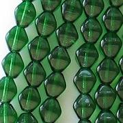 6mm Emerald Green Bicone Beads [50]