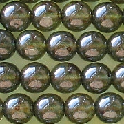 8mm Olive Green Luster Round Beads [50]