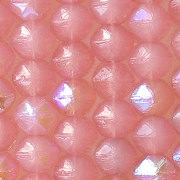 """6mm Pink Opalescent AB """"English Cut"""" Beads [50]"""