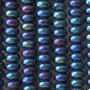 2x4mm Dark Blue Iris Rondelle Beads [100]