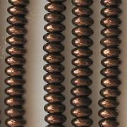 2x4mm Dark Bronze Rondelle Beads [100]