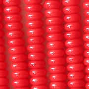 2x4mm Opaque Red Rondelle Beads [100]