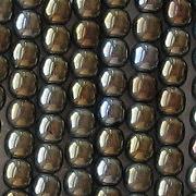 4mm Brown Iris Round Beads [100]