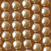 6mm Gold-Colored Round Glass Pearls [50]