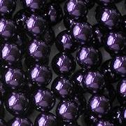 6mm Deep Purple Round Glass Pearls [75]