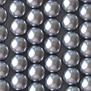 6mm Silver-Colored Round Glass Pearls [50]