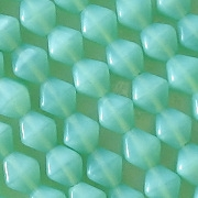 6mm Milky Light Teal Bicone Beads [50]