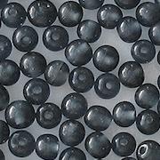 4mm Montana Blue Round Beads [100]