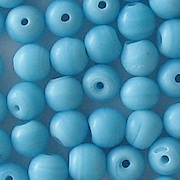 7mm Opaque Baby Blue Round Beads [50]