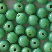7mm Opaque Green Round Beads [50]