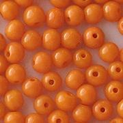 4.5mm Opaque Orange Round Beads [100]