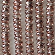 2x4mm Gold 'Apollo' Rondellle Beads [100] (see Defects)