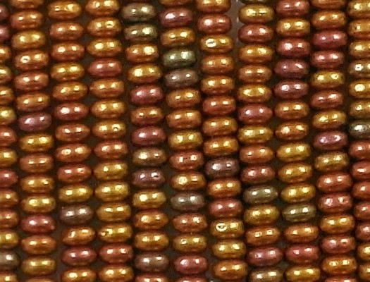 2x4mm Mixed Yellow-Golden Rondelle Beads [100] (see Defects)