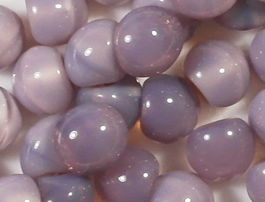 9mm Milky Amethyst Button Beads [15] (see Comments)