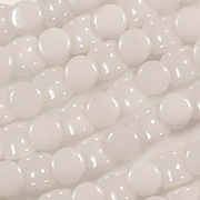 5mm White Hourglass Beads [44] (see Comments)
