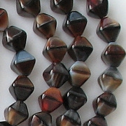 6mm Red 'Tiger' Bicone Beads [50]