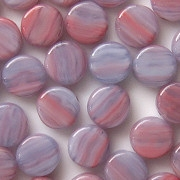 8mm Pink/Lavender Swirl Coin Beads [50]
