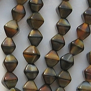 6mm Brown Tiger Bicone Beads [50]