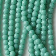 4mm Greenish Turquoise Round Beads [100]
