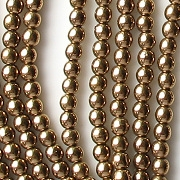 4mm Bronze Round Glass Beads [100]