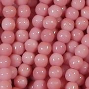 4mm 'Strawberry & Cream' Pink Round Beads [99+]