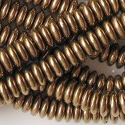 2x6mm Bronze Rondelle Glass Beads [100]