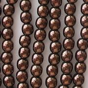 4mm Dark Bronze Round Glass Beads [100]