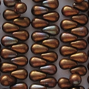 6mm Copper Iris Teardrop Beads [100] (see Comments)