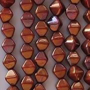 6mm Reddish-Bronze Bicone Beads [50]