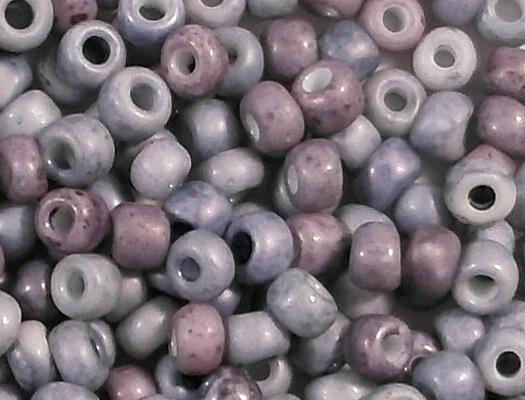 4mm Blue/Purple Ceramic Seed Beads [300]