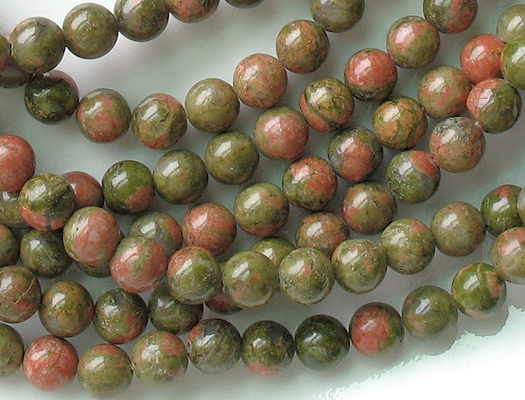 8mm Unakite Beads [48-49] (see Defects)