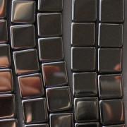 8mm Hematite Cube Beads [20]
