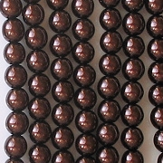 4mm Chocolate Brown Round Glass Pearls [118+]