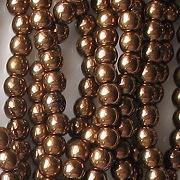 3mm Dark Bronze Round Glass Beads [100]
